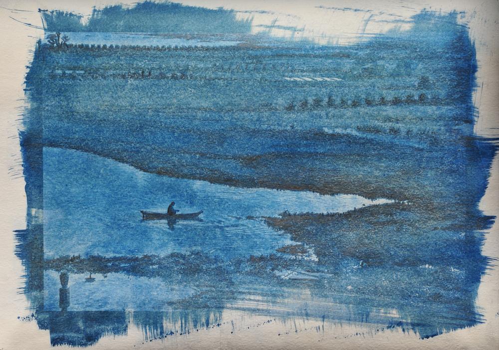 lake batur crayon
